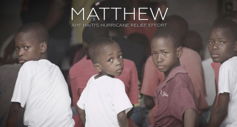 """""""Matthew,"""" a short film documentary produced by AIDS Healthcare Foundation (AHF), follows AHF's first responders in Haiti in the critical moments after Hurricane Matthew swept across the country. (Graphic: Business Wire)"""