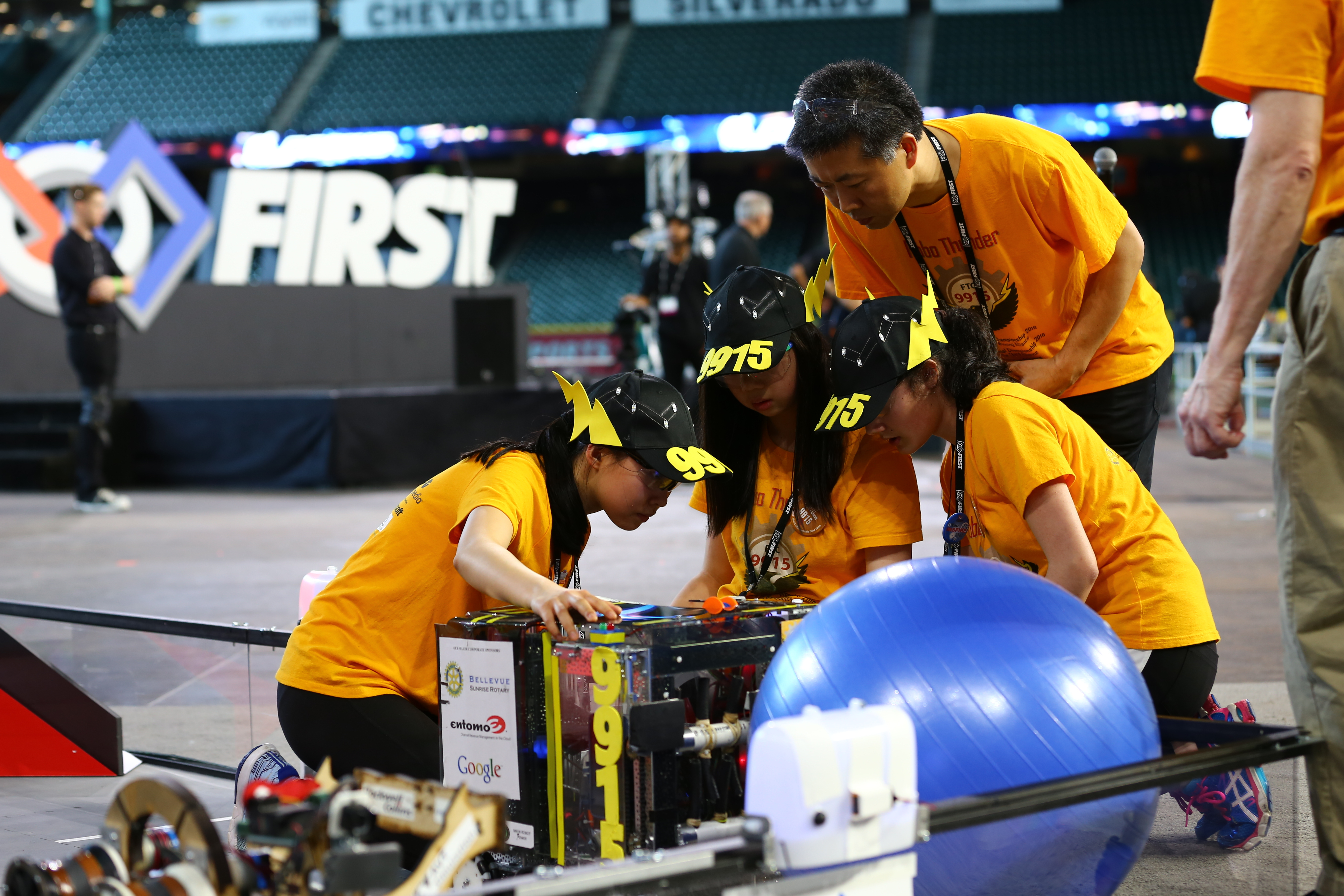 FIRST Kicks Off World's Largest Celebration of Science, Technology, Engineering, and Math for Students. Championship Presenting Sponsor Qualcomm Incorporated and Others Celebrate Young Inventors from 33 Countries at FIRST Championship in Houston. (Photo: Business Wire)