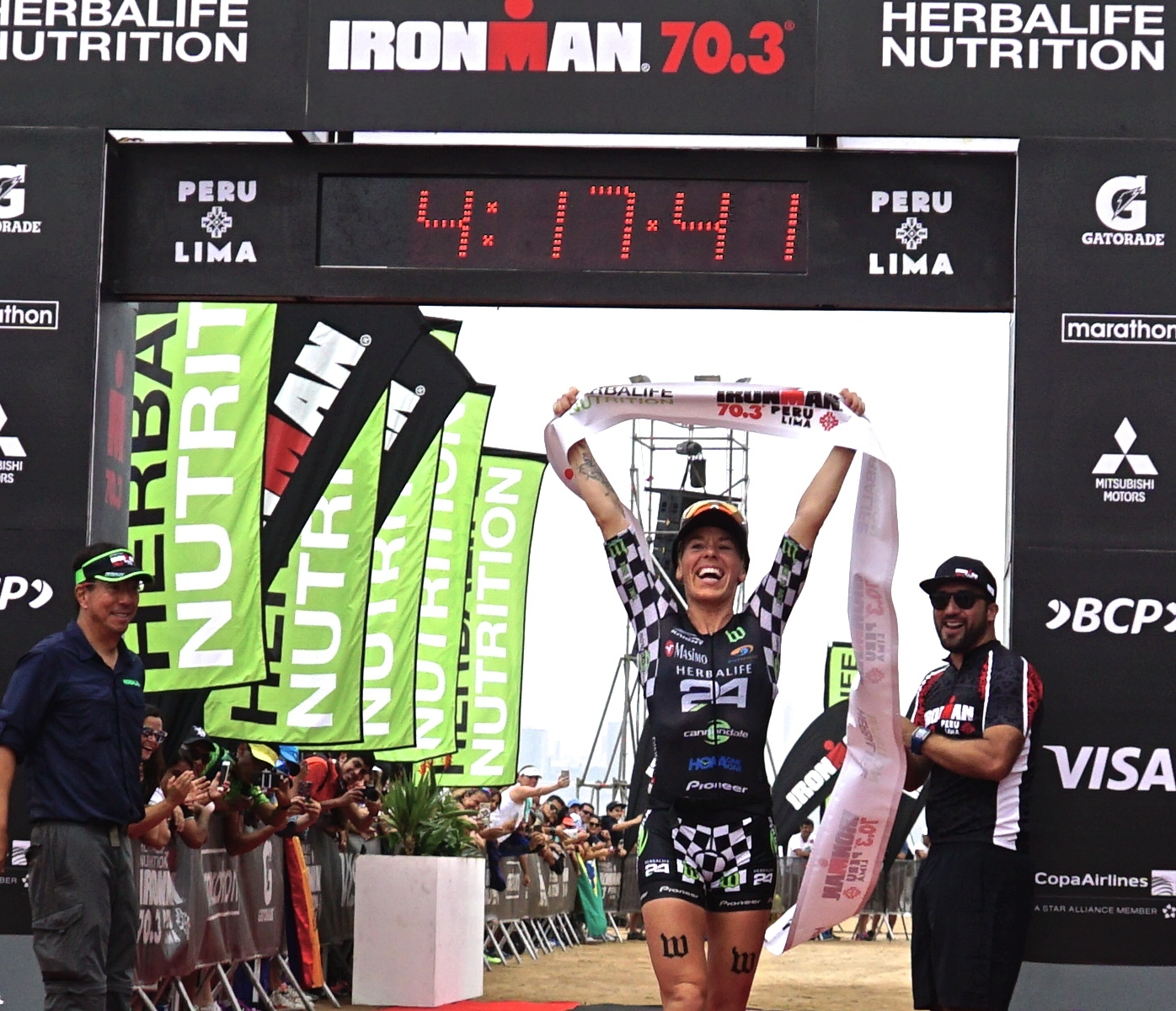 "Herbalife Nutrition Sponsored Triathlete Heather Jackson Wins IRONMAN 70.3 Peru and Donates Proceeds to the Peruvian People Affected by the Floods. Herbalife Nutrition sponsored triathlete Heather Jackson wins the IRONMAN 70.3 Peru and will donate all proceeds to help the people of Peru affected by the floods. ""The people of Peru inspired me during the race, and Herbalife Nutrition fueled me as I pushed through,"" said Jackson. ""I'm always so grateful for the opportunity to race and meanwhile, thousands of people have lost their homes. Peru, Herbalife Nutrition, and the entire Herbalife Nutrition community have given me so much in so many ways that it is the least I can do to give back to this wonderful country."" Jackson completed the race with a time of 4 hours, 12 minutes and 41 seconds. Her next race is the IRONMAN in Chattanooga, TN, on May 21. (Photo: Business Wire)"