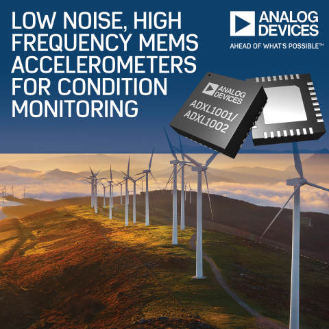 Analog Devices' MEMS Accelerometers Deliver Compelling Noise Performance for Condition Monitoring Applications (Photo: Business Wire)