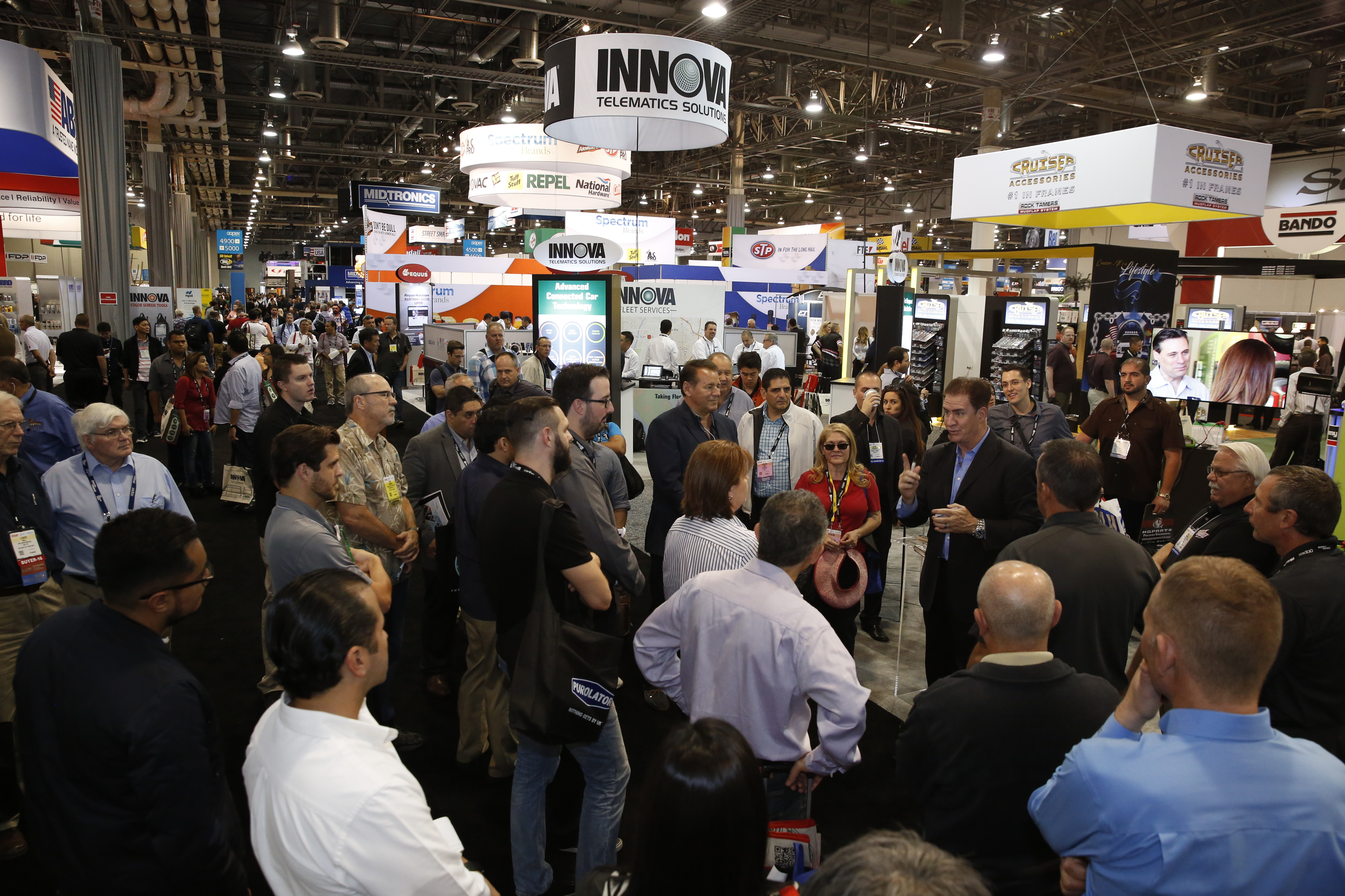 With 2,200 exhibiting companies, AAPEX is where the automotive aftermarket turns to find new products, new technologies and new suppliers. (Photo: Business Wire)