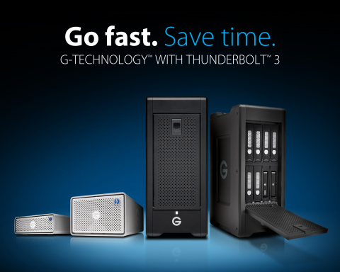 G-Technology's Award-Winning G-DRIVE®, G-RAID® and G-SPEED® Families Optimize Performance with Thunderbolt™ 3 Technology (Graphic: Business Wire)