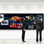 Leyard and Planar launch industry's first seamless LED touch video wall at NAB 2017 (Photo: Business Wire)
