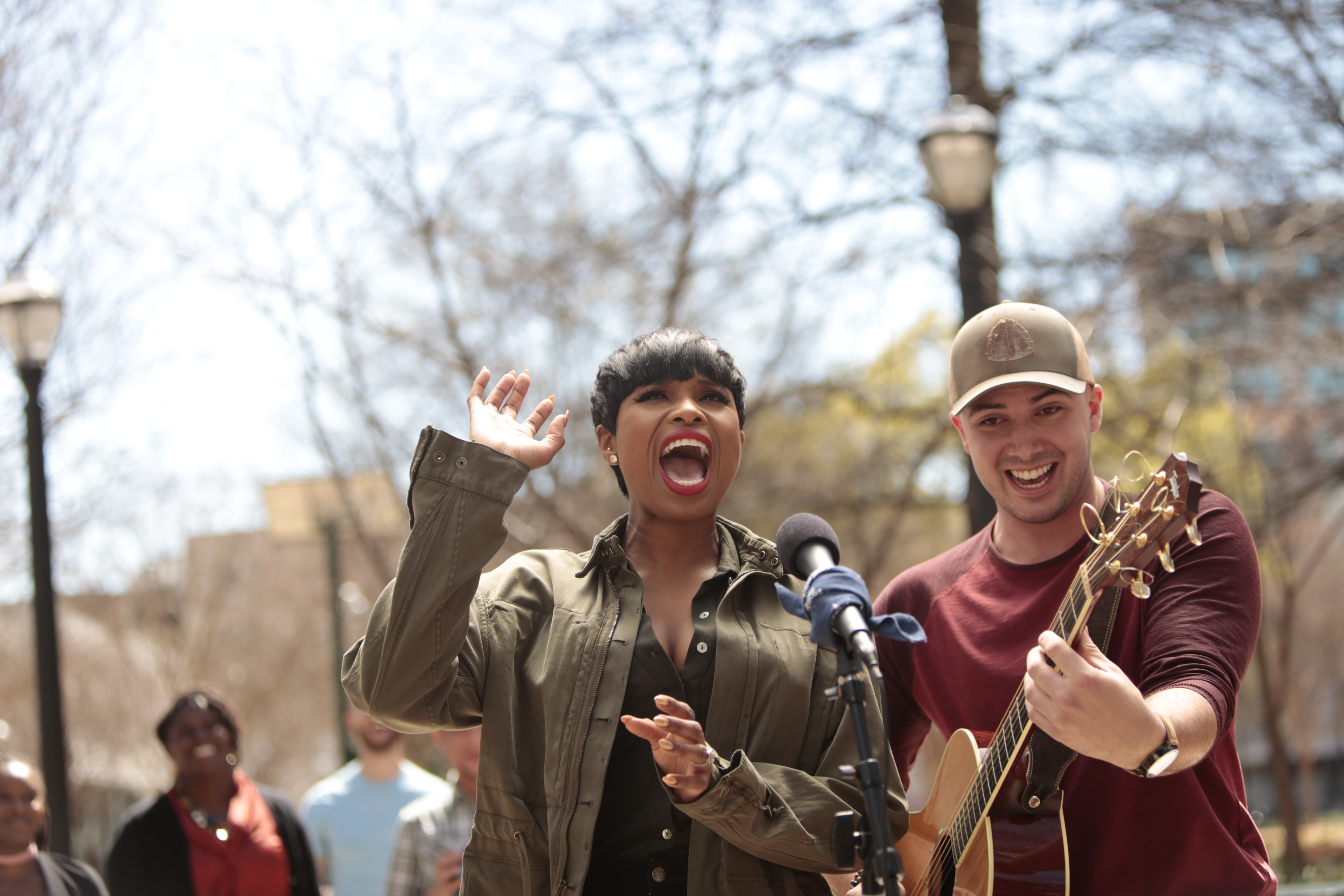 Jennifer Hudson and Alex Guthrie appear in a new :30 TV spot for American Family Insurance. (Photo credit Bil Zelman)