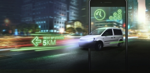 Tomtom Telematics and BP Partner to Help BP Customers Boost Fleet Efficiency (Graphic: Business Wire)