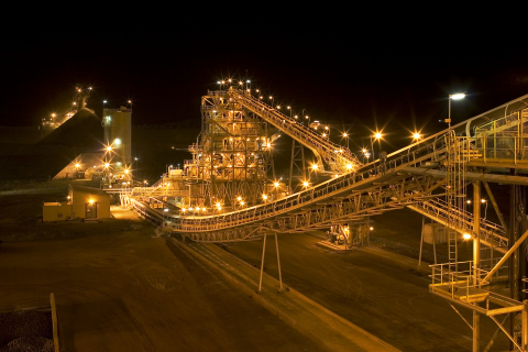 Installations de traitement de la mine d'or Ahafo de Newmont au Ghana. (Photo : Business Wire)