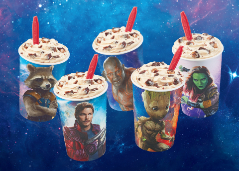 The limited-time Guardians Awesome Mix Blizzard Treat is available now at participating DQ and DQ Grill & Chill locations. (Photo: Business Wire)