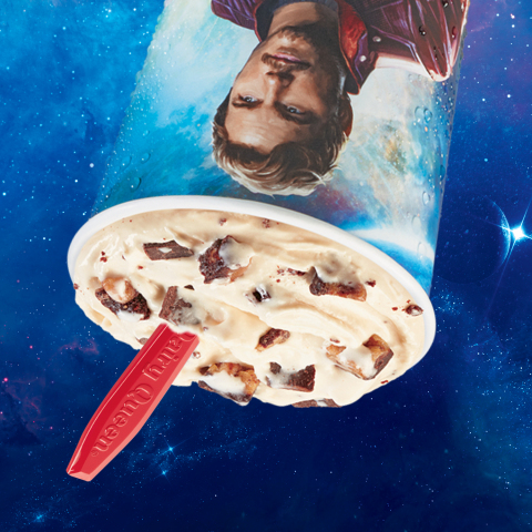 "The Guardians Awesome Mix Blizzard Treat mixes brownie and cookie pieces to create ""Brookie"" pieces and combines them with caramel, choco chunks and world famous DQ vanilla soft-serve. (Photo: Business Wire)"