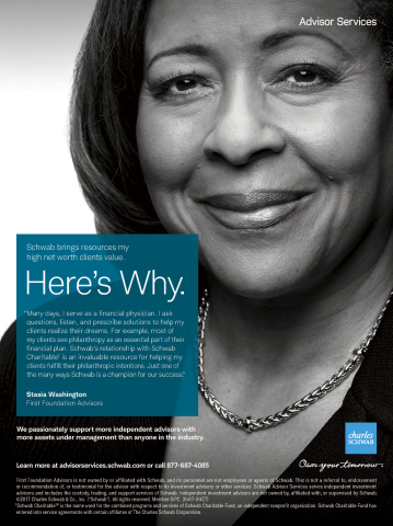 Schwab Advisor Services print ad (Graphic: Business Wire)