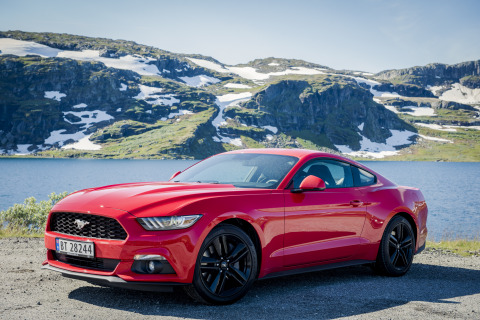 Ford Mustang, top-selling sports car in the U.S. over the last 50 years, became best-selling sports car in the world in 2016, according to Ford analysis of IHS Markit global automotive registration data in the sports car segment. Pictured here is the Mustang in Norway, one of 140 countries where the car is now sold. (Photo: Business Wire)