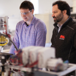 CEO Ric Fulop (right) and Materials Research Scientist Uwe Bauer in Desktop Metal's R&D lab. (Photo: Business Wire)