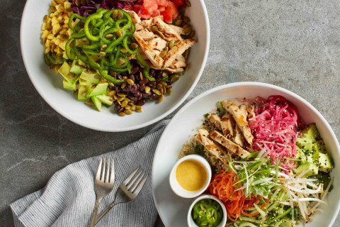 Banh Mi and Santa Fe Power Bowls, new at California Pizza Kitchen, are packed full of protein, fresh vegetables and hearty grains for a light yet flavorful meal. Now available at California Pizza Kitchen locations nationwide. Photo courtesy of Waterbury Publications, Inc.