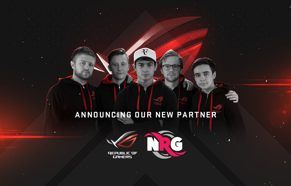 ASUS Republic of Gamers (ROG) announces its sponsorship of professional gaming team NRG eSports. (Photo: Business Wire)