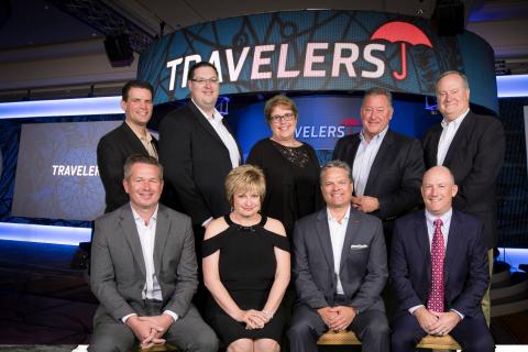 Travelers 2017 Personal Insurance Agents of the Year. Seated (left to right):Tim Danker, Robin Price, Kent Bergstedt, Paul Hammack Standing: Vincent Mannino II, Steven Bender, Sue Hendrix, Robert Bizak, Robert Mazey (Photo: Business Wire)