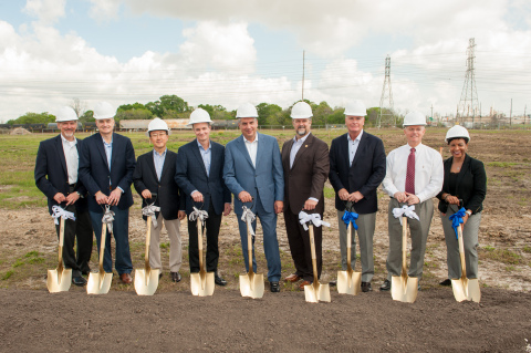Executives and government officials at the March 22, 2017, ground breaking event for Lubrizol's Deer Park, Texas, Facility. From left to right: R.B. Herrscher, Senior Vice President of Petrochemicals for Enterprise Products Partners; Mike Vaughn, Lubrizol Corporate Vice President, Operations; Jaeyul Kim, President and CEO of Daelim Industrial Petrochemical division; Eric Schnur, Lubrizol Chairman, President and CEO; Steve Demetriou, Jacobs Chairman and CEO; Jerry Mouton, Mayor of Deer Park; Dan Sheets, Senior Vice President and President of Lubrizol Additives; Victor White, Superintendent of Deer Park Independent School District; and Tanya Travis, General Manager of Lubrizol Texas plants. (Photo: Business Wire)