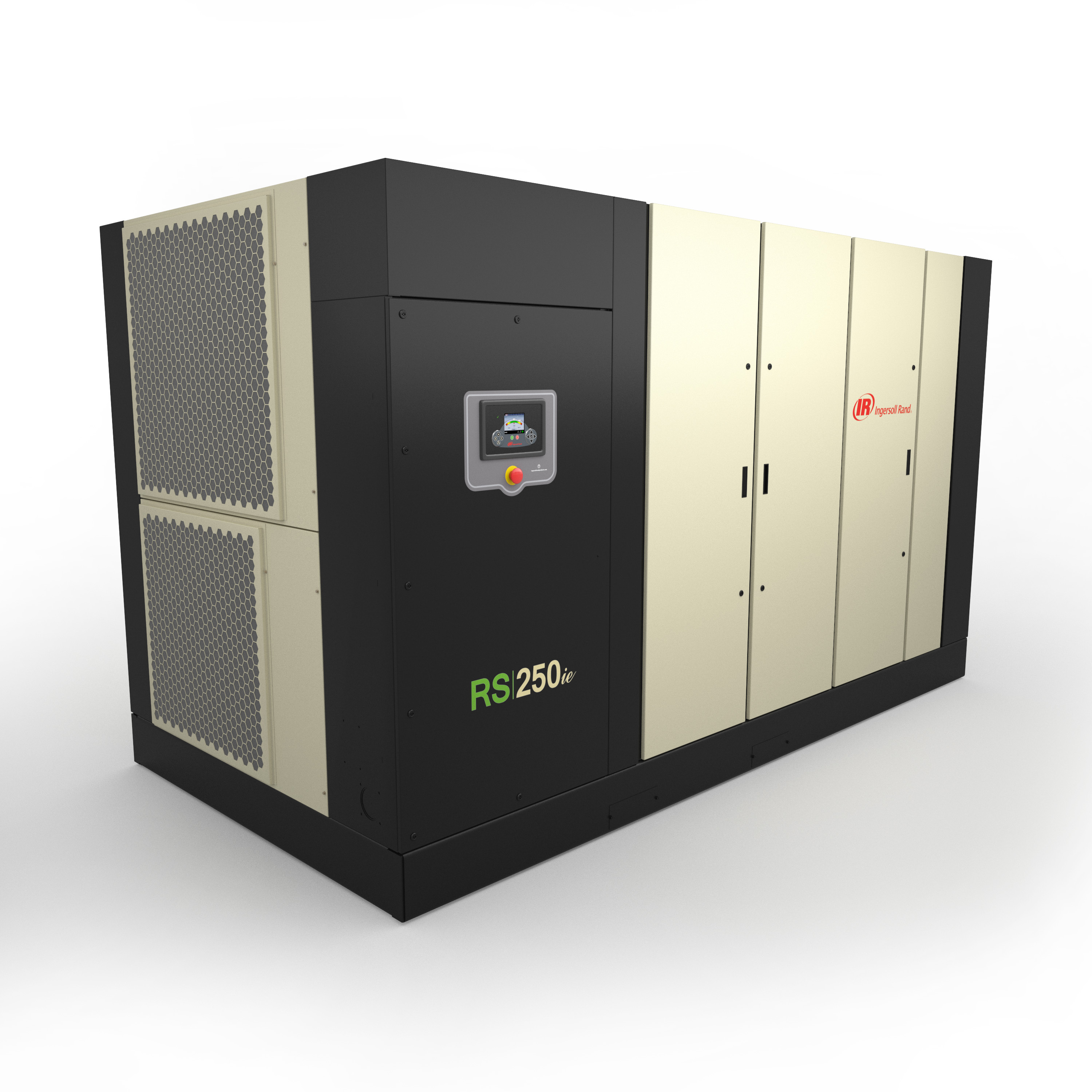 The Next Generation R-Series 200-250kW rotary screw air compressors from Ingersoll Rand provide a more energy-efficient solution for customers with high capacity air requirements. The fixed-speed models are 10 percent more efficient compared to legacy products, while the variable speed option is up to 35 percent more efficient compared to the industry average. (Photo: Business Wire)