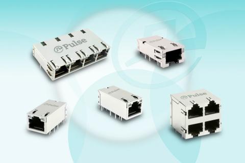 Pulse Electronics multi-gigabit NBase-T compliant connector modules (Photo: Business Wire)