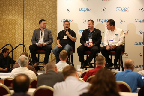 Industry experts discuss the benefits and challenges of vehicle innovations and technologies during AAPEXedu sessions at AAPEX in Las Vegas. (Photo: Business Wire)
