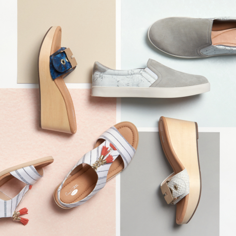 Dr. Scholl's Shoes and Anthropologie, two brands known for their authentic and effortless take on design, have come together to offer a capsule collection this Spring. (Photo: Business Wire)