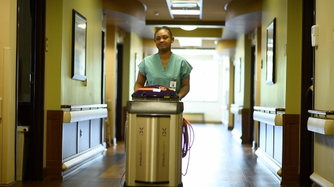 Forrest General Hospital is the first hospital in south Mississippi to deploy Xenex LightStrike Germ-Zapping Robots to destroy the germs and bacteria that can pose a risk to patient and employee safety. (Photo: Business Wire)