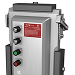 Eaton's Crouse-Hinds series EBMX technology is the first clamping enclosure for hazardous industrial environments and is designed to help customers dramatically enhance safety. (Photo: Business Wire)