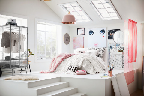 Bedroom designed by Isabella Rose Taylor for the new 'Isabella Rose Taylor for PBteen' Collection (Photo: Business Wire)