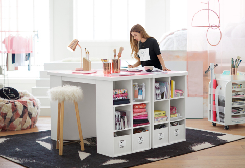 Study and creative space designed by Isabella Rose Taylor for the new 'Isabella Rose Taylor for PBteen' Collection (Photo: Business Wire)