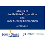 Merger of South State Corporation and Park Sterling Corporation