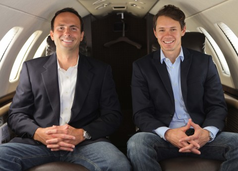 Casey Miller (left) and Solomon Short (right) are co-owners of Latitude 33 Aviation, a private jet charter, business jet management, and aircraft sales/acquisitions company headquartered in Southern California. Latitude 33 experienced record growth in 2016 and celebrated its 10-year anniversary. (Photo: Business Wire)