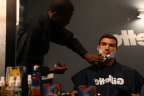 USC Quarterback Mitchell Trubisky gets ready for one of the biggest nights of his life at the NFL Draft with a Gillette Fusion ProShield shave at the P&G VIP Style Lounge in Philadelphia with his family Wednesday, April 26, 2017. (Photo: Business Wire)