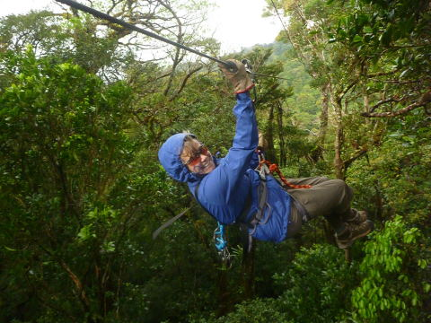 Golden resident Kathleen Cohan received the NUsurface® Meniscus Implant to treat her persistent knee pain. She recently went ziplining on an adventure trip in Costa Rica with a stable knee. (Photo: Business Wire)