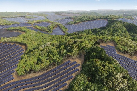 Rendering of the Kanoya Osaki Solar Hills Solar Power Plant (Graphic: Business Wire)