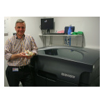 The hospital's Stratasys Objet Eden350V 3D Printer allows Consultant Maxillofacial Prosthetist Stefan Edmondson and his team to save around three to four hours in OR time per surgery (Photo: Stratasys)