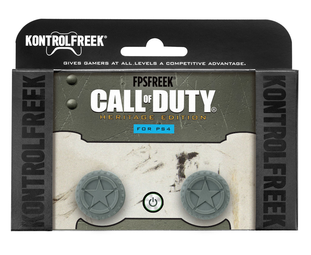 KontrolFreek's FPS Freek Call of Duty: Heritage Performance Thumbstick set for PlayStation 4 (packaging) (Photo: Business Wire)