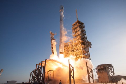 The successful launch of SES-10 on SpaceX's first ever mission using a flight-proven rocket serving the Andean Community for direct-to-home broadcasting as well as enterprise and mobility services- Credit: SpaceX