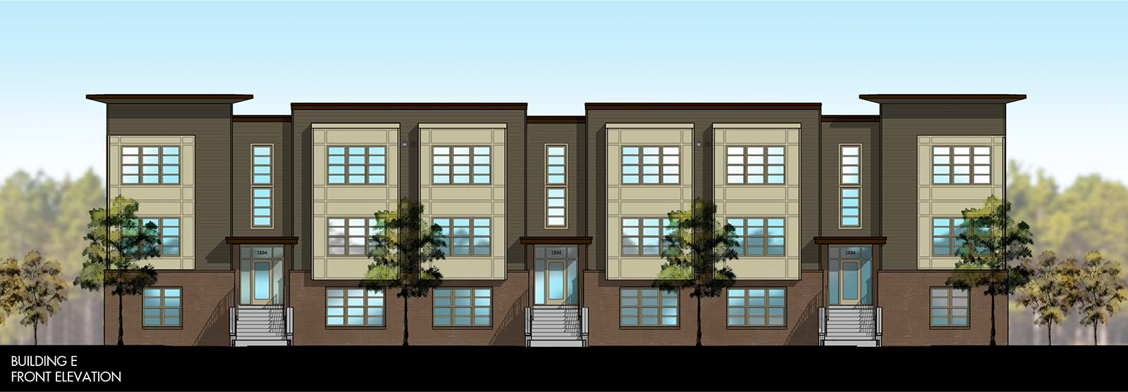 HQ Flats Building E Front Rendering (Graphic: Business Wire)