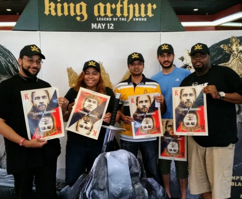 """Fans show excitement at King for a Day advance screening of """"King Arthur: Legend of the Sword,"""" in theaters May 12 (Photo: Business Wire)"""