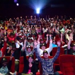 """Enthusiastic fans crowned King for a Day await the start of advance screening of """"King Arthur: Legend of the Sword,"""" in theaters May 12 (Photo: Business Wire)"""