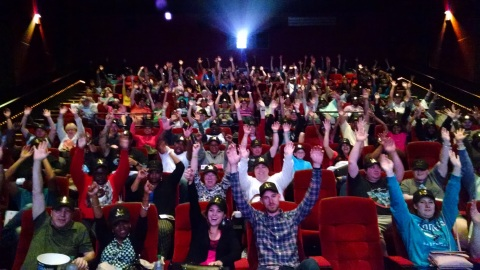 "Enthusiastic fans crowned King for a Day await the start of advance screening of ""King Arthur: Legend of the Sword,"" in theaters May 12 (Photo: Business Wire)"