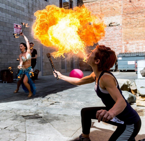 PERFORMERS ON FIRE — SeaWorld San Diego held one of the most unique casting calls in Hollywood histo ...