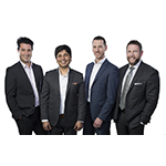 Solesto founding partners, from left to right: Guillermo Salazar, Sidd Kadam, Marc Joly and Ronald Browning. (Photo: Business Wire)