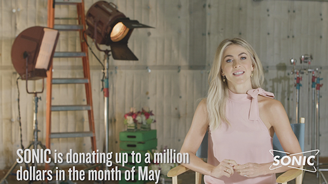 Julianne Hough Joins SONIC Drive-In's 2nd Annual Limeades for Learning® #ThanksTeach Campaign