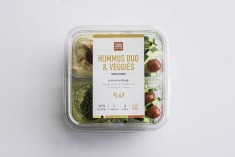 Zoës Kitchen Hummus Duo & Veggies Snack Box (Photo: Business Wire)