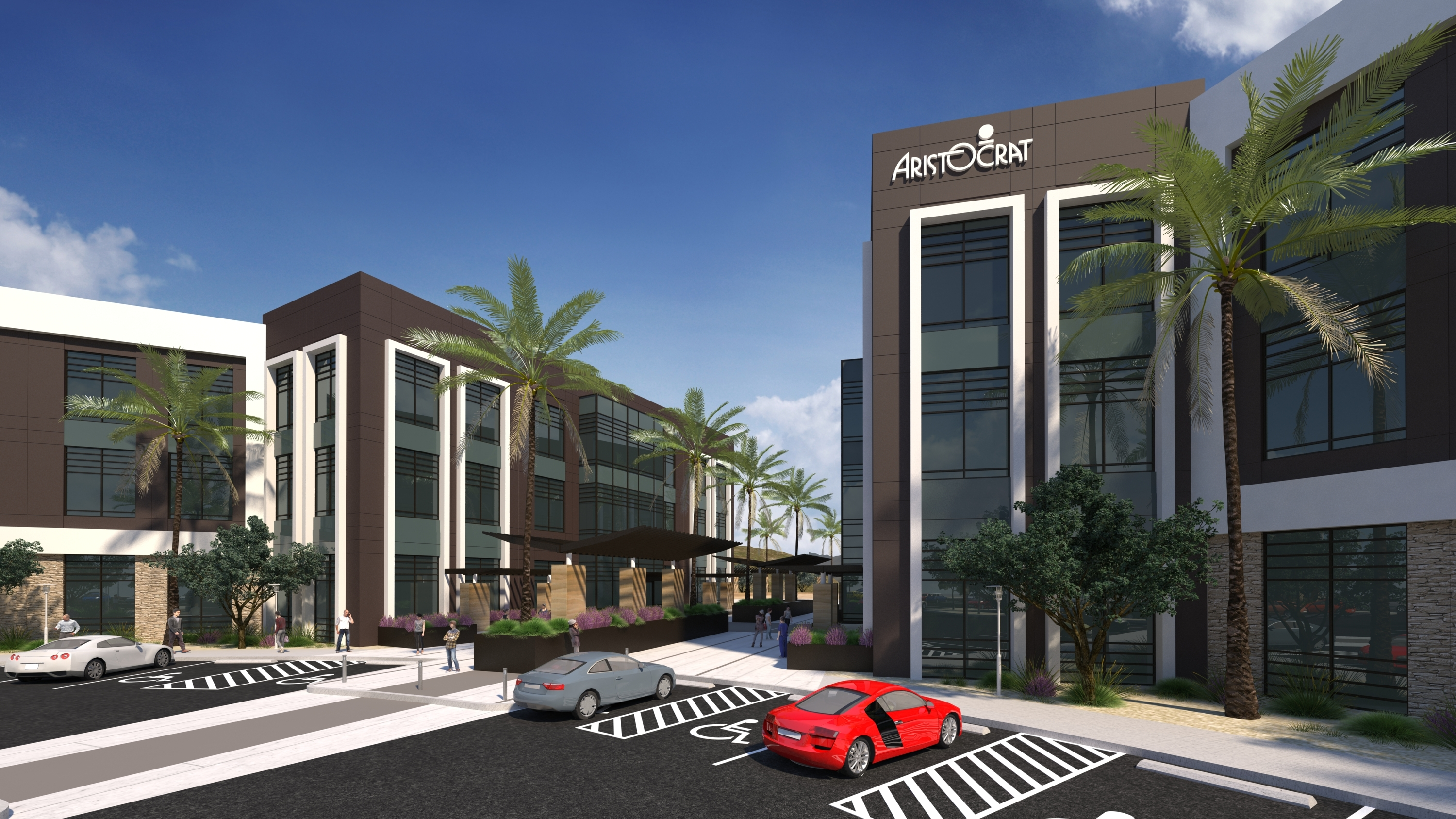 New campus for Aristocrat Technologies, Inc. in the Summerlin master planned community (Photo: EV&A Architects)