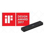 """BMS' PocketJet 773 full-page mobile printer has been named a winner in iF International Forum's """"iF DESIGN AWARD 2017"""" in the Product Design category (Graphic: Business Wire)"""