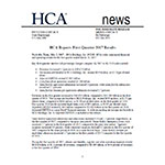 HCA Reports First Quarter 2017 Results