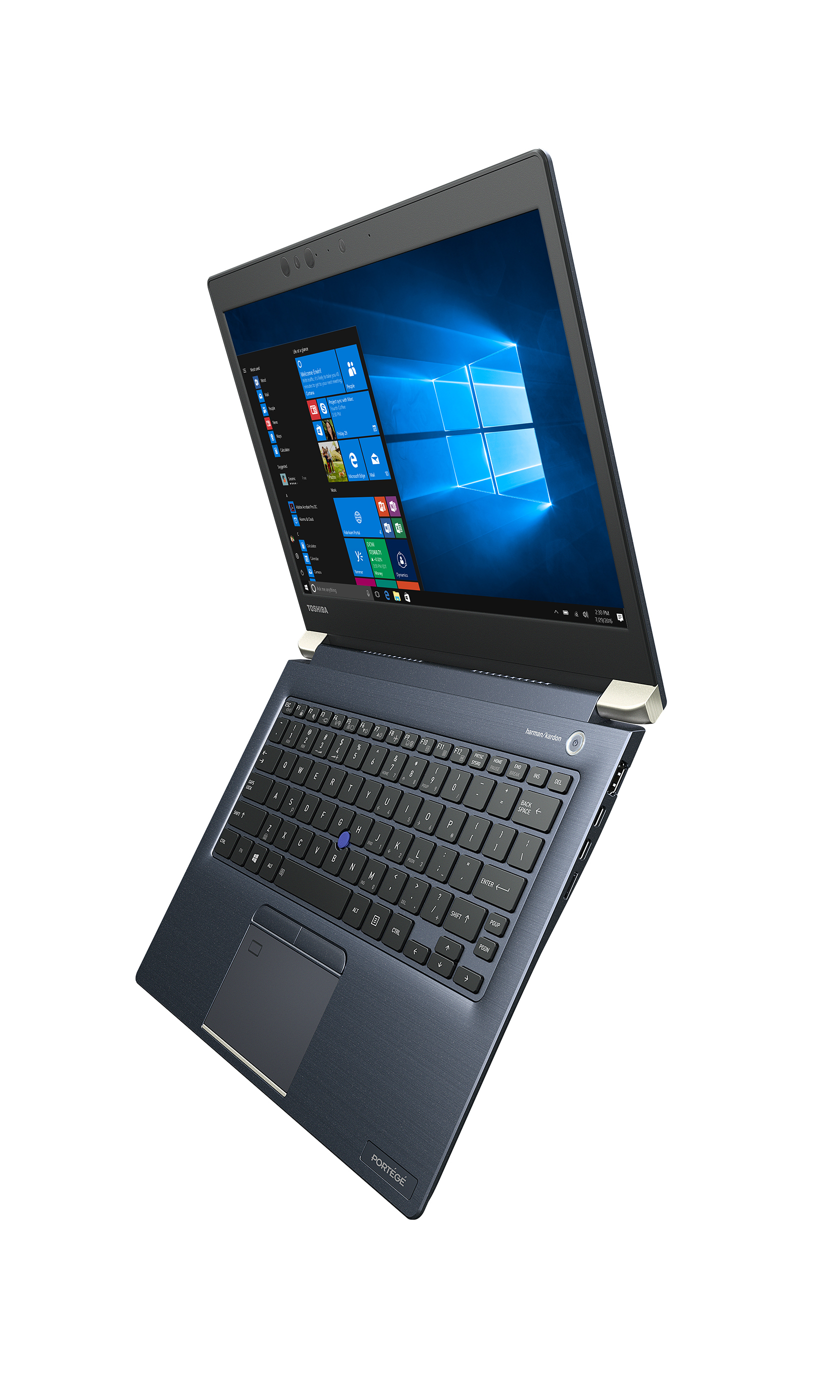 Toshiba's Portégé X30 is the company's new ultra-portable notebook powered by 7th Generation Intel Core Processors and running Windows 10 Pro. (Photo: Business Wire)