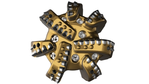 The Dynamus bit offers a new body engineered for long life in extreme operations, and it reduces trips and protects BHA components and hole-quality by mitigating lateral vibrations and reducing cutter wear.(Photo: Business Wire)
