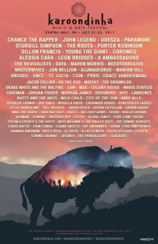Karoondinha Music & Arts Festival Full Lineup Poster