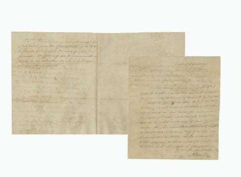 A rare, autographed Treasury Department letter signed by Alexander Hamilton is being offered for auction on May 9, 2017, by University Archives, with online bidding offered by Invaluable.com. (Photo: Business Wire)